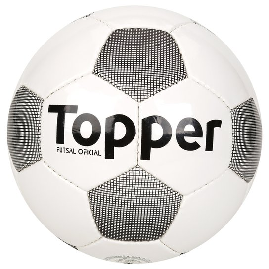 07060790c6d8f Bola Futebol Topper Extreme 4 Futsal - Branco+Preto