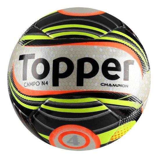 4a83dad8d6 Bola Futebol Campo Topper Champion N4 - Preto e Branco - Compre ...