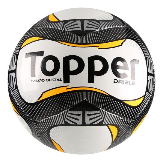 Bola Futebol Campo Topper Drible - Branco e Preto - Compre Agora ... 9ccd3fcd5b125