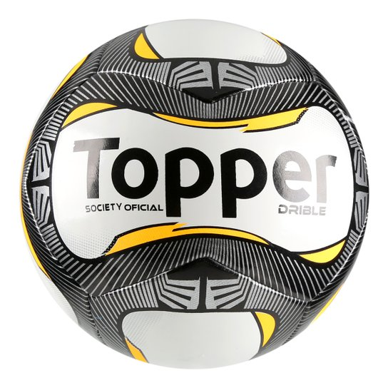 Bola Futebol Society Topper Drible - Branco e Preto - Compre Agora ... a8e2fd6005820