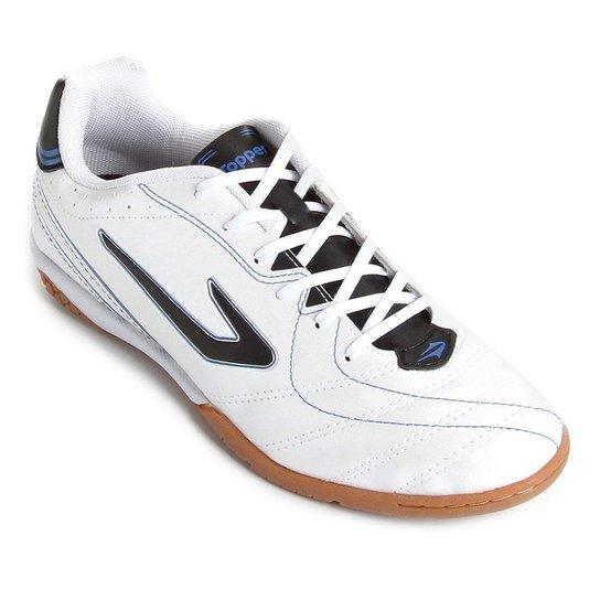 fc3f9aa825ca6 Chuteira Futsal Topper Titanium 6 - Branco e Preto - Compre Agora ...