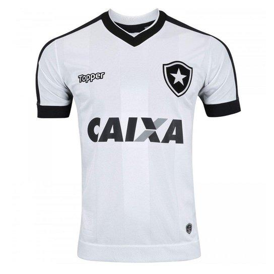 d69e4888e4 Camisa Topper Botafogo III 2017 Masculina - Branco e Preto - Compre ...