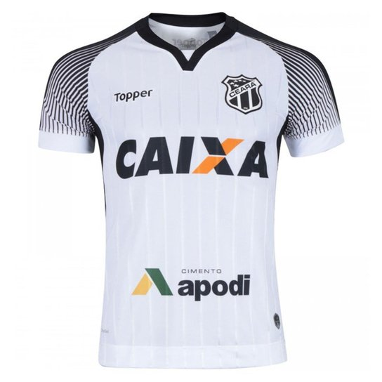 Camisa Topper Ceará II 2017 Nº10 Masculina - Branco e Preto - Compre ... 44e0830ad2972