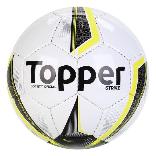eadf35ba1e93d Bola Futebol Society Topper Strike IX - Branco e Preto - Compre ...