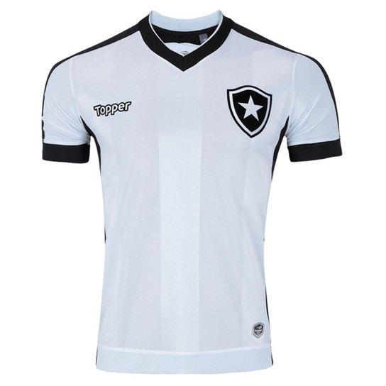 47f2293baf0a2 Camisa Topper Botafogo III 2017 Sem Patrocínio Infantil - Branco+Preto