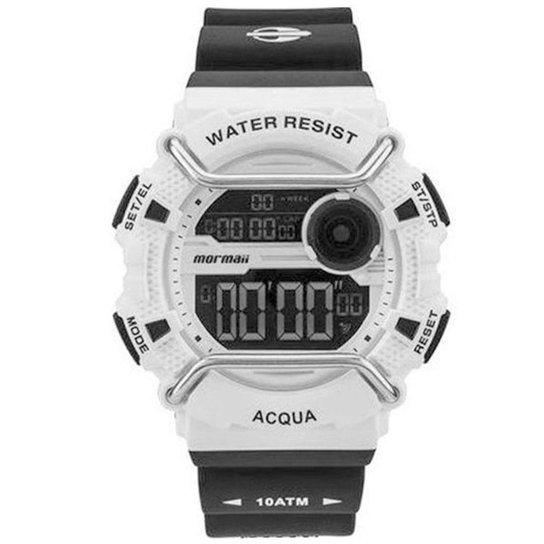 b569cb6c470 Relógio Masculino Mormaii Monxb 8B -   - Branco e Preto - Compre ...