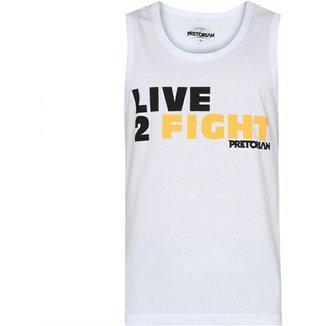 e15d82b3f2 Camiseta Regata Pretorian Live 2 Fight - Branca
