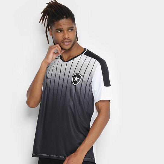 Camiseta Botafogo Strike Masculina - Branco e Preto - Compre Agora ... 1d67adc3d8341