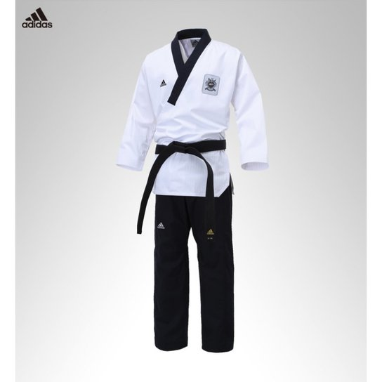 Dobok Adidas Adi Poomsae - Branco e Preto - Compre Agora  fa324479efe