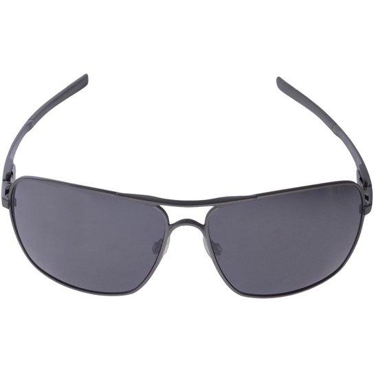 54dad7677 Oculos Oakley Plaintiff Squared - Cinza+Preto