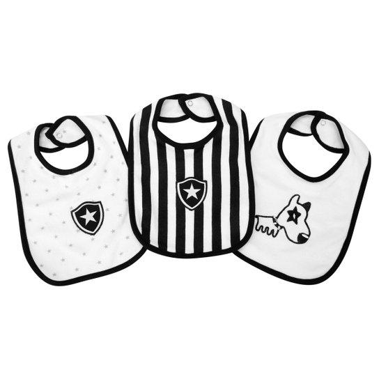 e778370417 Kit Babador Botafogo c  3 peças Infantil - Branco e Preto - Compre ...