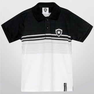 Camisa Polo Botafogo Juvenil Fio Tinto 8863b7f9f1ffc