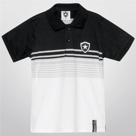 Camisa Polo Botafogo Juvenil Fio Tinto - Branco e Preto - Compre ... 781d7f5daad39