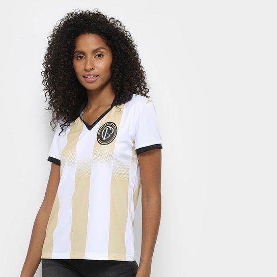 17ed04689b Camisa Corinthians n° 9 Centenário - Edição Limitada Feminina - Branco+Preto