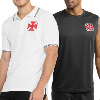 Kit Vasco da Gama Camisa Polo + Camiseta Regata Masculina