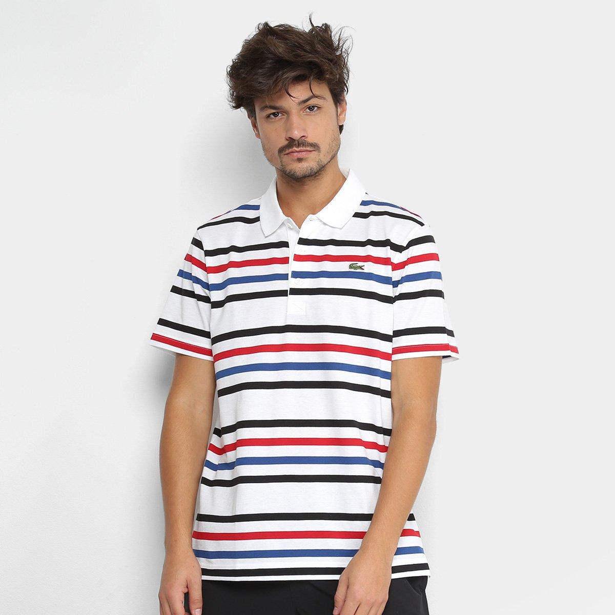 4be12ce92 Camisa Polo Lacoste Manga Curta Masculina