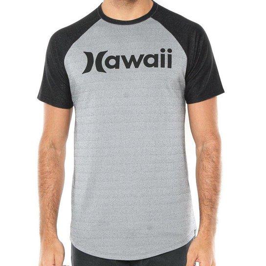 Camiseta Hurley Especial Hawaii - Cinza e Preto - Compre Agora ... 64b98273410e8