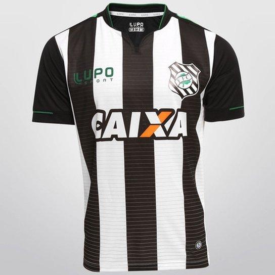 41d2fbed3f Camisa Figueirense 2015 Uniforme I - Lupo - Branco e Preto - Compre ...