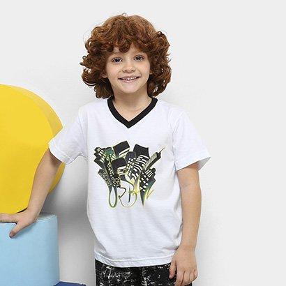 Pijama Infantil Lupo Estampado Manga Curta Masculino