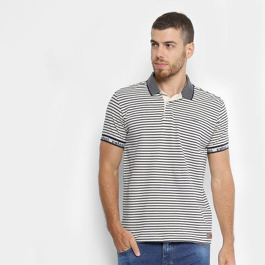 89e921ab53 Camisa Polo Colcci Listrada Masculina - Branco e Preto - Compre ...