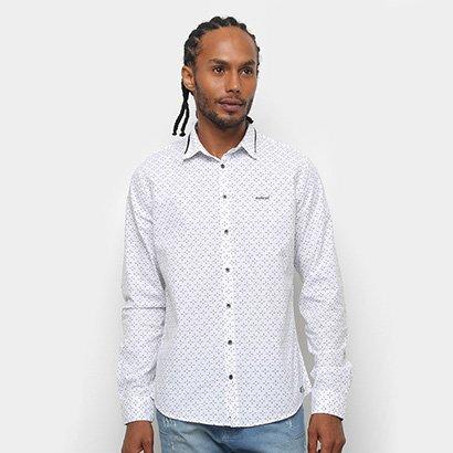 Camisa Manga Longa Colcci Slim Full Print Masculina