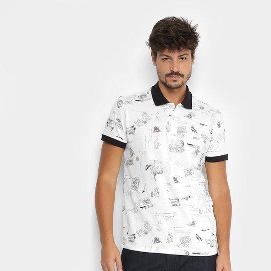 Camisa Polo Colcci Estampada Masculina - Compre Agora  e5f806ea07941