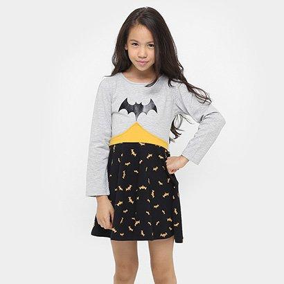 Vestido Fakini Super Heroína Infantil