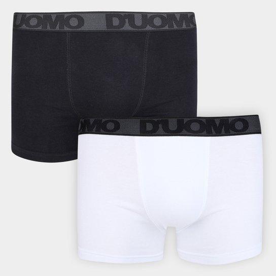 4573ab9c88 Kit Cueca Duomo Boxer 2 Peças - Branco e Preto - Compre Agora