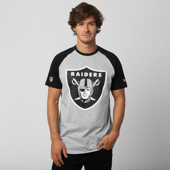 c0c3cd08e2bef Camiseta New Era NFL Raglan Oakland Raiders Basic - Compre Agora ...