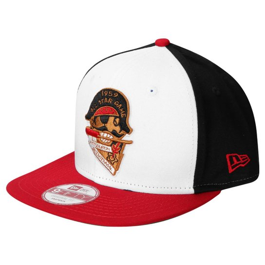 Boné New Era 950 MLB All-Star Game 1959 Pittsburgh Pirates - Branco+Preto d00e012d9bc