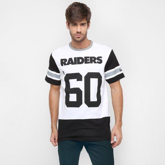 7c01d432f4d64 Camiseta New Era NFL Long Date Oakland Raiders - Compre Agora