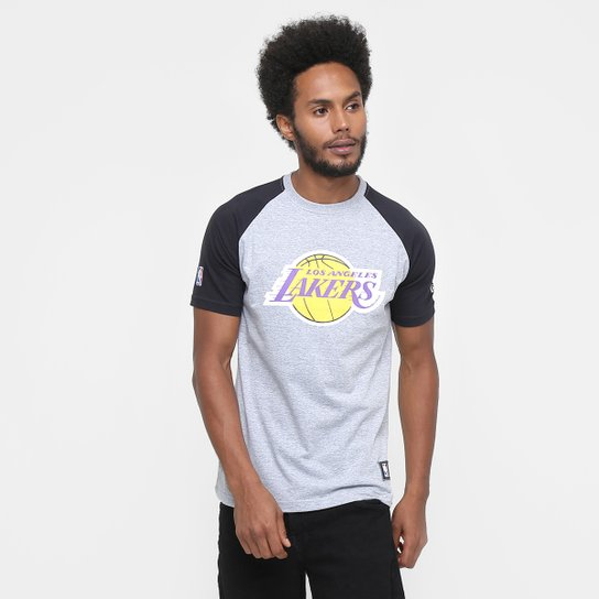 Camiseta New Era NBA Heather Logo Los Angeles Lakers - Compre Agora ... 55589ba9985