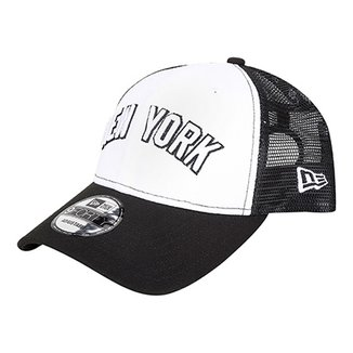 5c8294fb7545e Boné New Era MLB New York Yankees Aba Curva 940 Sn Trucker