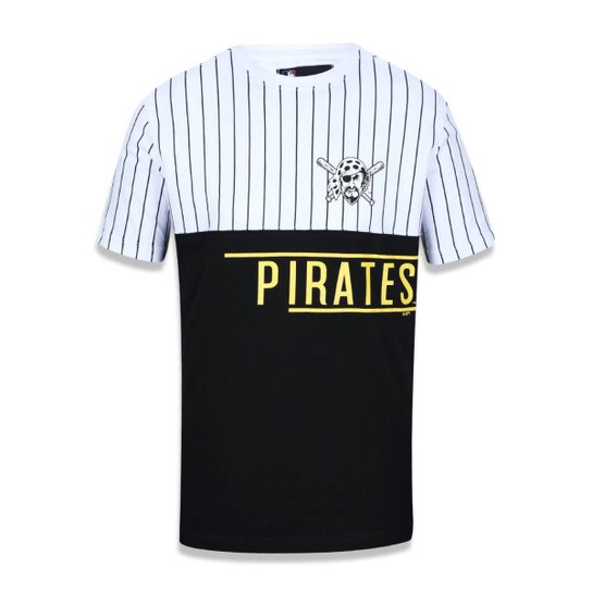 Camiseta New Era Pittsburgh Pirates MLB Masculina - Branco e Preto ... 1e16e75fbbe22
