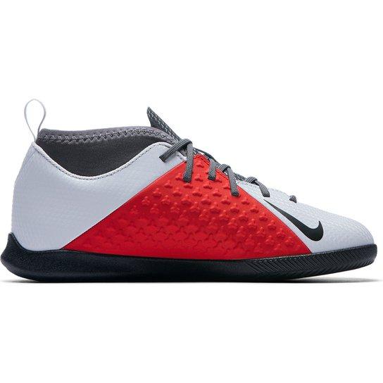 0eededa0ea Chuteira Futsal Infantil Nike Phantom Vison Club DF IC - Cinza e ...