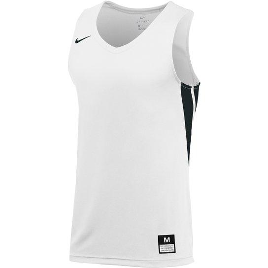 a4cc0fb22c Regata Nike Dri Fit STK Masculina - Branco e Preto - Compre Agora ...