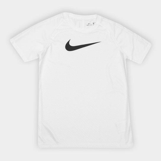 Camisa Infantil Nike Dry Academy Top SS GX2 Nike - Branco e Preto ... 476b91fa876ce