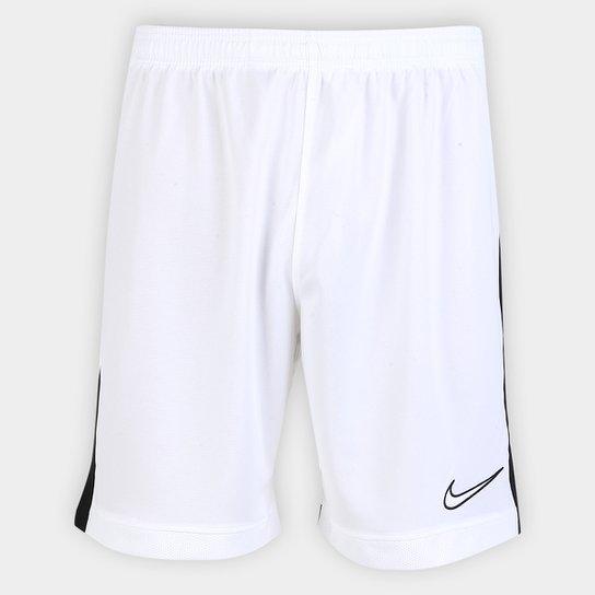 e408ea83b6a78 Calção Nike Dri-Fit Academy Masculino - Branco e Preto - Compre ...