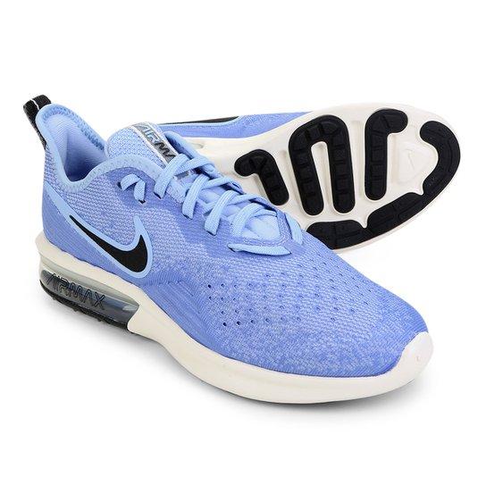 5037ab04a5b Tênis Nike Air Max Sequent 4 Feminino - Azul Claro - Compre Agora ...