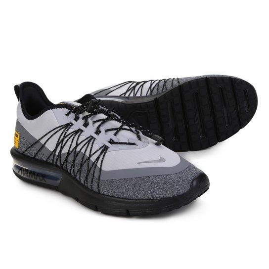 8b3386b79aa077 Tênis Nike Air Max Sequent 4 Utility Masculino - Cinza e Preto ...