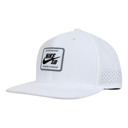38b70bb45d802 Boné Nike Arobill Pro Cap 2.0 Aba Reta - Branco e Preto - Compre ...