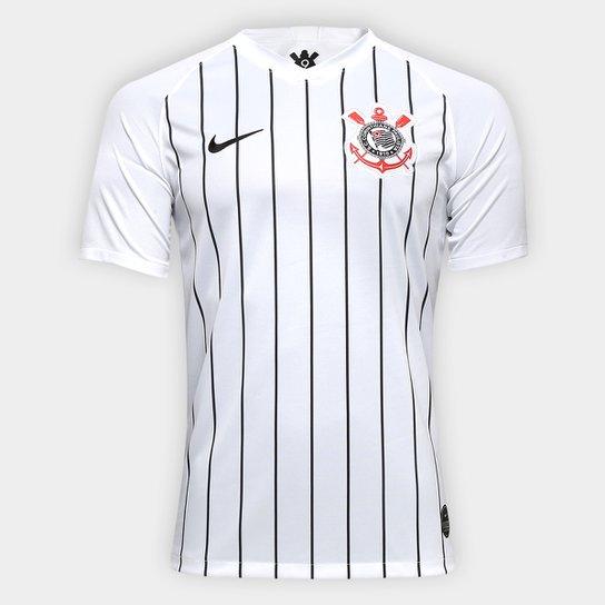 648329fa9a Camisa Corinthians I 19/20 s/nº Torcedor Nike Masculina - Branco+Preto