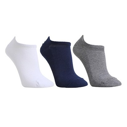 Kit Meias Selene Sapatilha Invisivel 3 Pares Masculina