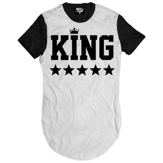 Camiseta Skull Clothing Longline King Black Masculina 54ae83c7179