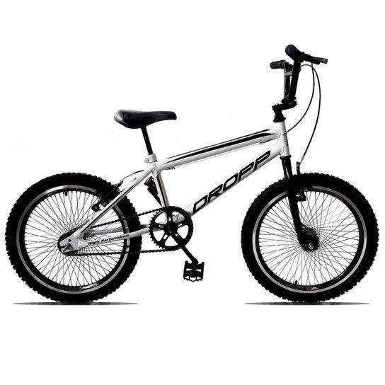 62204574e02f2 Bicicleta Aro 20 DROPP CROSS 72 Raias Freios V-Brake - Branco+Preto