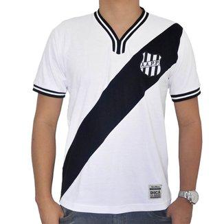 6df79c5987 Camisa Retrô Mania Ponte Preta 1977 Branca