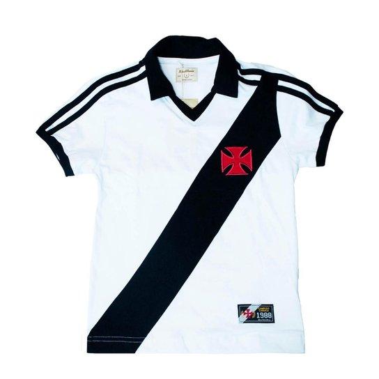 c2914156f2e53 Camisa Retrô Mania Juvenil Vasco da Gama 1988 - Branco e Preto ...