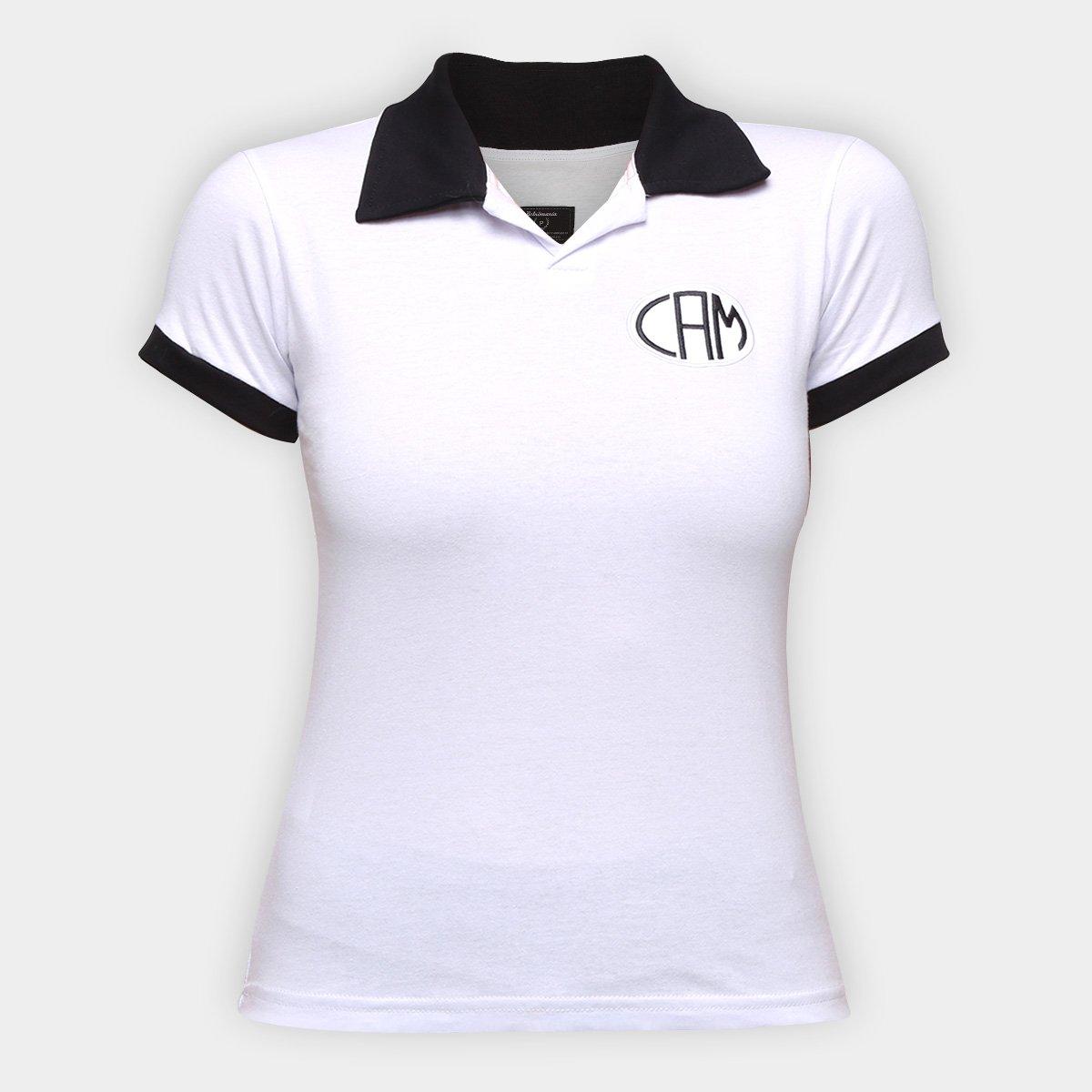 Camisa Polo Atlético Mineiro Design Retrô Mania Feminina