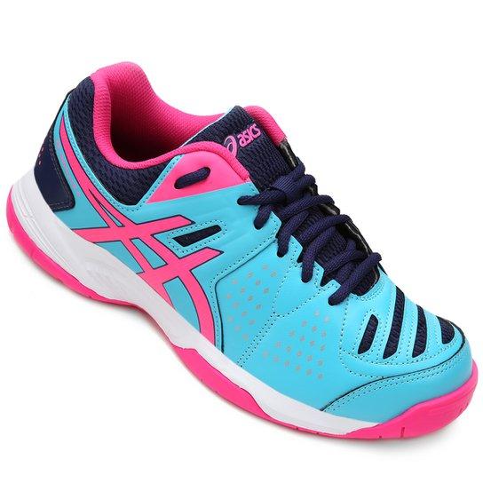 d0ada29323d43 Tênis Asics Gel-Dedicate 4 A - Azul Piscina e Pink - Compre Agora ...