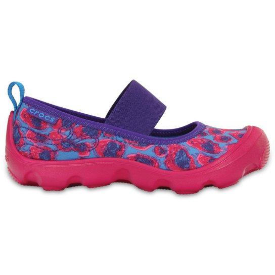 663f83803 Sapatilha Crocs Infantil Duet Busy Day Leopard - Azul e Pink ...